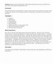 Pipeline Engineer Sample Resume Classy Piping Field Engineer Sample Resume Resume Offshore Field Engineer