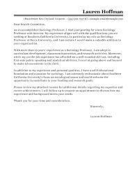 Cover Letter Cv Professor Eursto Com