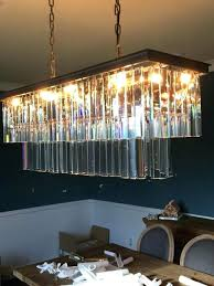 rectangular glass chandelier medium size of light fixture within finest