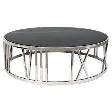 eichholtz roman modern classic black marble top round coffee table kathy kuo home