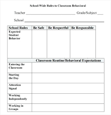 Behavior Contract Template Behavior Contract Template Behavior Packets For Students Behavior