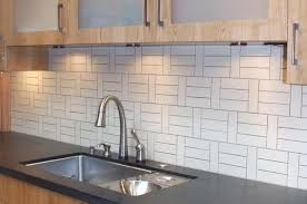 Textured Wallpaper For Kitchen Backsplash With Wooden Wall Cabinet Grey  Granite Countertop And Undermount Sink