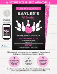 Bowling Birthday Party Invitations Free Printable Girl