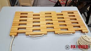 diy wooden doormat 13