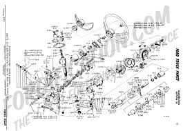 ford truck technical drawings and schematics section c steering column gear and wheel 4 spd manual transmission 1966 1972 f100 4x4 1967 1972 f250 4x4