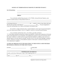 Arizona Lease Termination Letter Template | 30-Day Notice | Eforms
