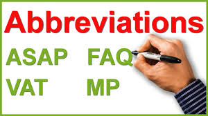 Image result for abbreviations