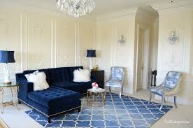 navy blue sofa