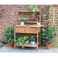 potting bench planter bench wooden
