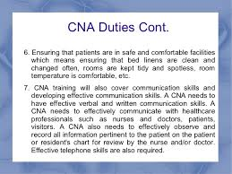 Duties And Responsibilities Of A Cna Cna Training And The Job Responsibilities Of A Cna