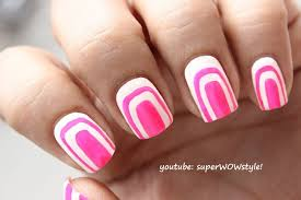 Cute Pink & White Nail Art Without using Tools | NO TOOLS Nail ...