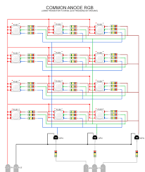 hooking up multiple rgb leds while using a minimal number of pwm rgb wiring diagram led common anode rgb w transistor