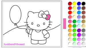 Hello Kitty Coloring Pages - Hello Kitty Coloring Book - YouTube