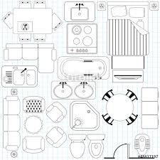 Furniture Symbols Used In Architecture Plans Vector  Free DownloadFurniture Icons For Floor Plans
