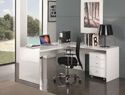 white office corner desk. Selina, Corner Office Desk Study With Storage In White High Gloss Finish Thumbnail