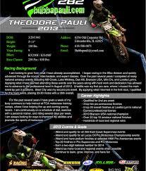 Motocross Resume Resume Blog Resumecove Dvrlists Example Resume