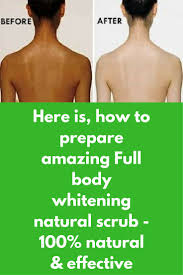 Here is, how to prepare amazing <b>Full body whitening</b> natural scrub