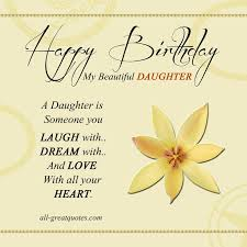 Birthday Cards For My Daughter Happy Birthday Wishes For Daughter On Impressive I Love My Daughter Quotes For Facebook
