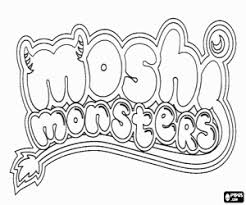 Moshi Monsters Coloring Pages Printable Games