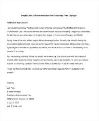 Letter Of Recommendation For Student Template Scholarship From