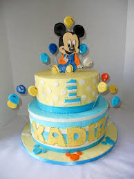 10 Mickey Mouse Birthday Cakes For One Year Old Boys Photo Mickey