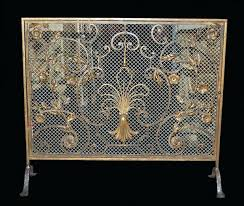 fireplace screens antique here is a superb quality french handmade wrought iron fire screen with antique