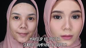 makeup tutorial ke pesta kondangan gang dan cepet