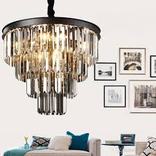 american black iron art crystal chandeliers chandelier chandelier light fixtures bedroom lamp smoke gray crystal lamp ball chandelier wire chandelier from