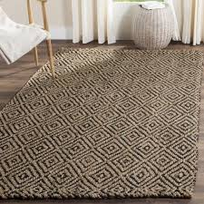 safavieh casual natural fiber hand woven natural black jute rug 8 x 10 nf181c 8 is a handmade rugs that is made from jute mainly use for indoor