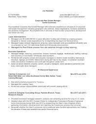 Real Estate Resume Real Estate Resume Template Noxdefense Com