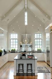 vaulted ceiling lighting fixtures. Beautiful Lighting For Cathedral Ceilings A Vaulted Ceiling Kitchen Island With Recessed Ideas Fixtures