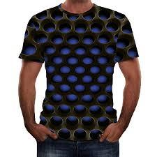 Mens Clothing Mens Summer 3d Printed Short Sleeves Fashion