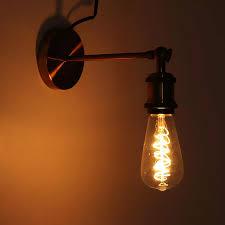 Vintage Plug In Lights E27 Vintage Retro Industrial Loft Rustic Wall Sconce Wall Lights Porch Lamp Ac110v 220v Eu Plug