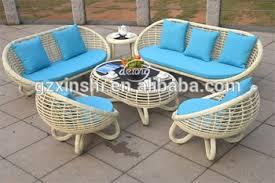garden furniture with waterproof cushions. cute egg-shape pe rattan cafe sofa set outdoor furniture garden use with waterproof cushions