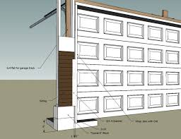 methods of wrapping o head garage door frame garage cross section jpg