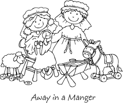 Terrific Away In A Manger Coloring Pages Printable In Snazzy Jesus