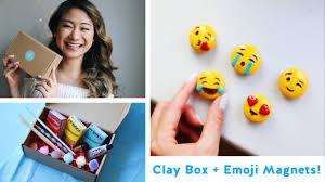 diy emoji magnets the clay box launch