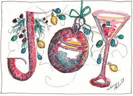 Christmas Notecard Watercolor Christmas Notecard Art Print By Michele Hollister For