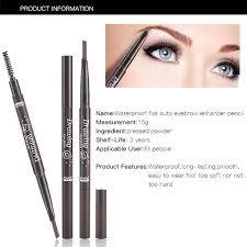 Waterproof Long Lasting Duo Dual Eyebrow Pencil 3 Shapers Eyebrow Stencil Cosmetic Eye Brow Liner Pen Makeup Beauty Tool