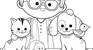 Veterinarian Coloring Pages Running Downcom