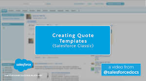 creating quote templates sforce classic