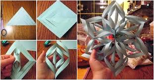 How To Make A 3d Snowflake How To Make 3d Paper Snowflakes How To Instructions