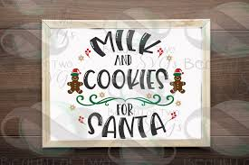 Looking for christmas images and vectors? Milk Cookies For Santa Svg Christmas Eve Santa Plate Svg 363875 Svgs Design Bundles