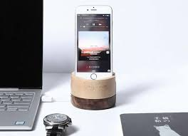 wooden iphone desk charger stand dock station holder for iphone 7 7plus 6s