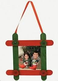 craft stick picture frame   Picture Frame Ornaments