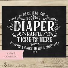 raffle sign chalkboard baby shower diaper raffle ticket sign instant
