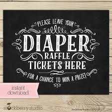 raffle sign chalkboard baby shower diaper raffle ticket sign instant