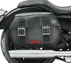 harley davidson distressed black leather saddlebags sportster