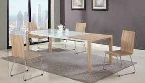 chairs and top frosted piece dining room kitchen engaging glass leather round set clio tables table