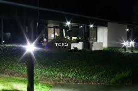 in ground lighting. TCEQ Austin, Texas, Campus Lighting - Bollard Retrofit In Ground R